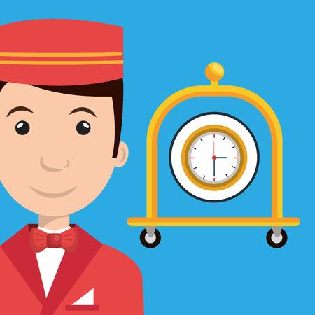 bellman hotel employee icon vector illustration design Illustration