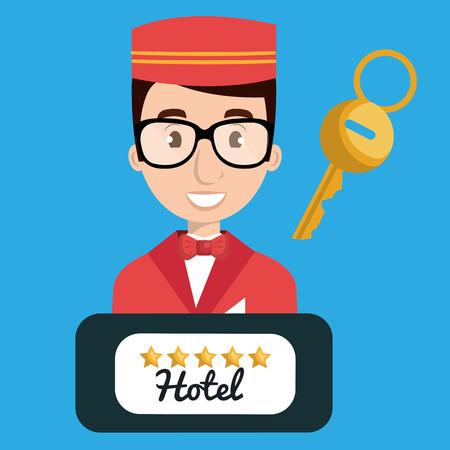 groom employé de l'hôtel design icon illustration vectorielle Vecteurs
