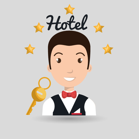 bellman hotel employee icon vector illustration design Illustration