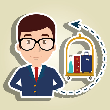 gestionnaire hôtel design vecteur service employé illustration Vecteurs