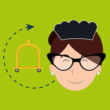 housekeeper: housekeeper maid hotel service vector illustration design Illustration