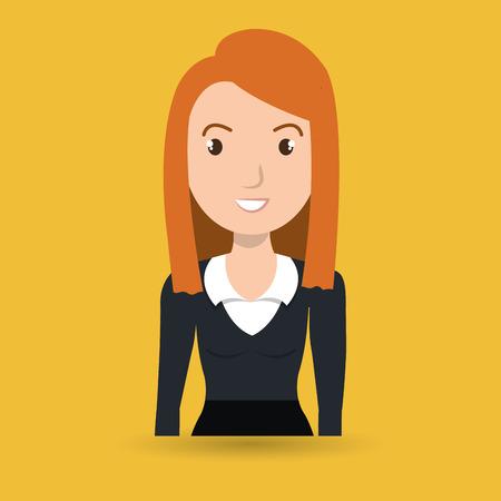 portrait young girl studio: woman adult girl female vector illustration design Illustration