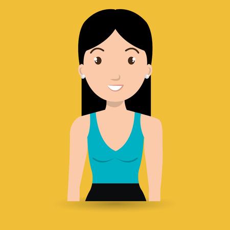 woman adult girl female vector illustration design Illustration