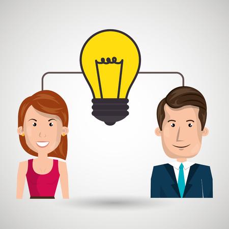 idea teamwork vector illustration Illustration