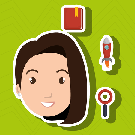 woman idea search app vector illustration eps10 Illustration