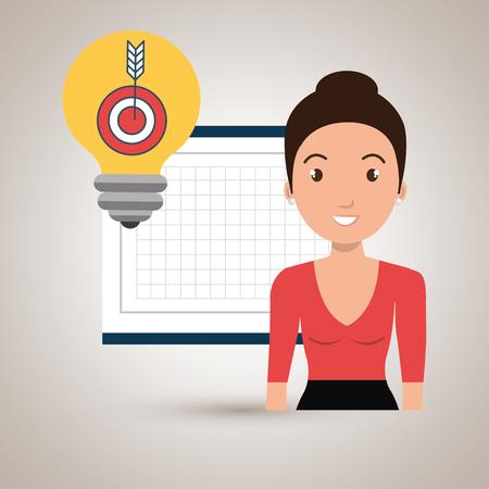 woman board tools app vector illustration eps 10