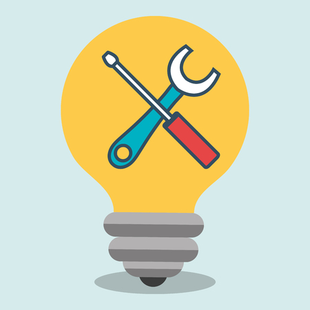 vision repair: idea tools icon vector illustration eps 10
