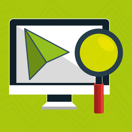 shopping chart: computer search icon vector illustration eps 10 Illustration
