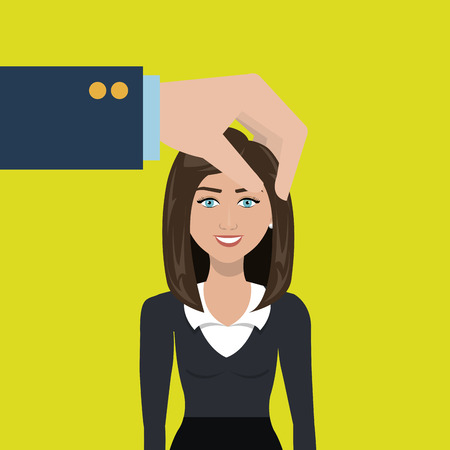 choose: choose find woman work vector illustration graphic