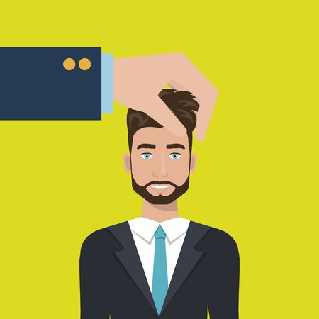 choose person: choose find person man vector illustration graphic