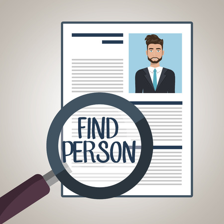 best employee: choose find cv man vector illustration graphic