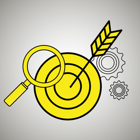 search target icon vector illustration eps 10 Illustration