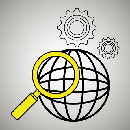search global icon vector illustration eps 10