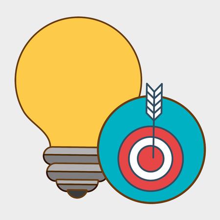 dart board: idea target icon vector illustration eps 10