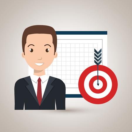 man board tools app vector illustration eps 10 Illustration