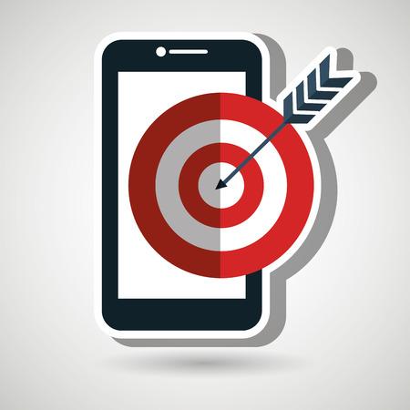 target smartphone icon vector illustration eps 10