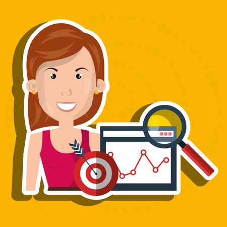 woman target page web search vector illustration eps 10 Illustration