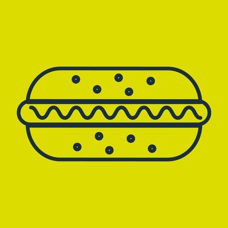 junkfood: hot dog food fast vector illustration eps10 Illustration