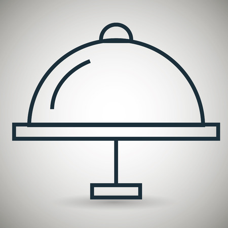 lunch room: tray food icon vector illustration