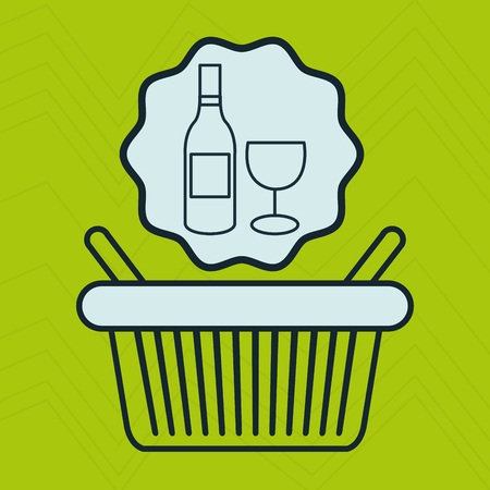 basket shop market icon vector illustration Illustration