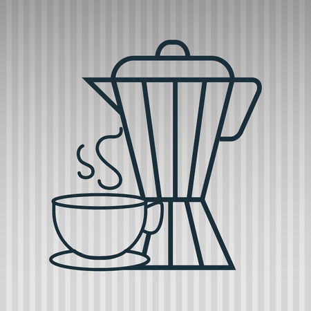 with coffee maker: coffee maker cup icon vector illustration Illustration