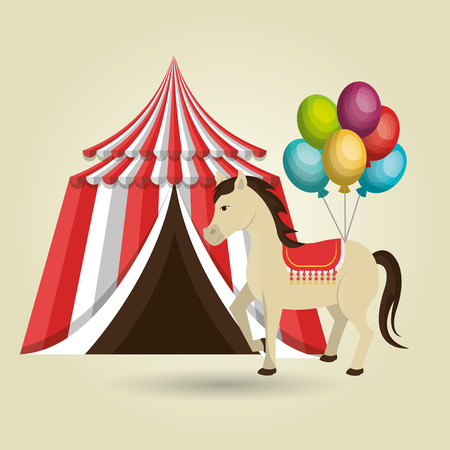 big top circus: big top circus icon Illustration