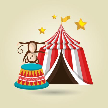 big top circus: big top circus icon vector illustration eps10 eps 10