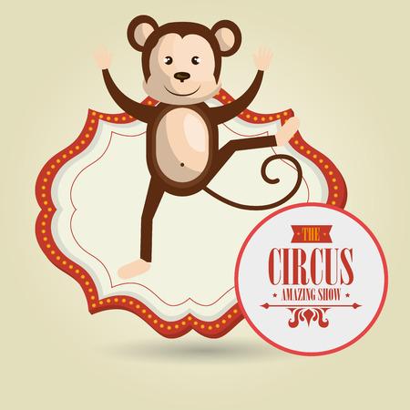 monkey circus icon vector illustration eps10 eps 10