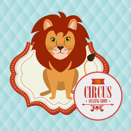 costume ball: lion circus fun icon vector illustration eps10 eps 10 Illustration