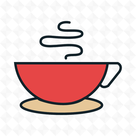 decaf: cup coffee drink icon vector illustration Illustration