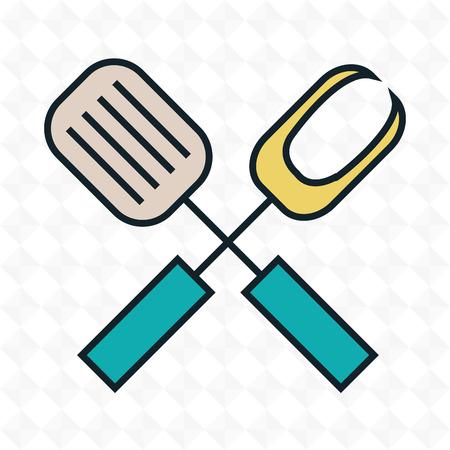 kitchen utensils cook icon vector illustration Illustration