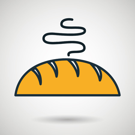 bread bakery chop icon vector illustration