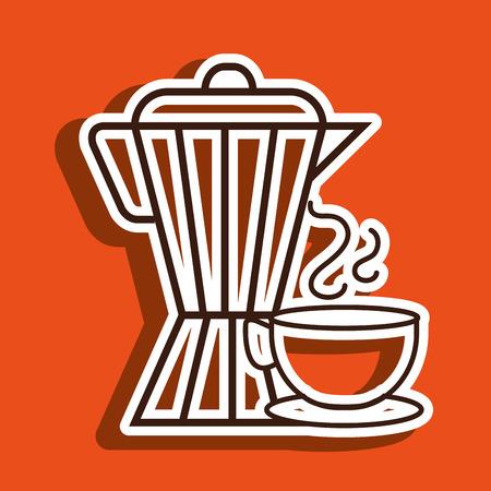 coffee maker cup icon vector illustration Illustration