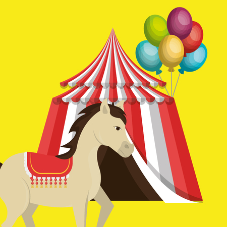 big top circus icon vector illustration