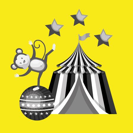 big top circus: big top circus icon vector illustration