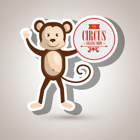 juggle: monkey circus icon vector illustration eps10 eps 10