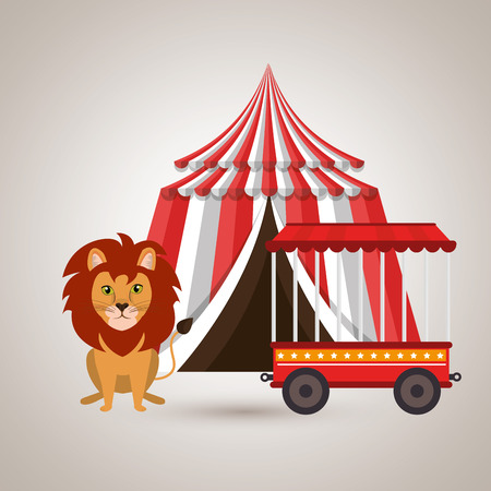 lion circus fun icon vector illustration eps10 eps 10 Illustration
