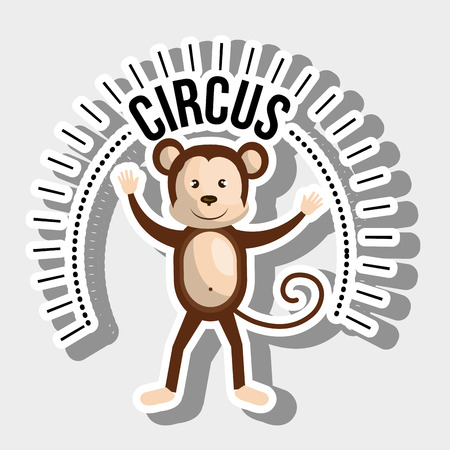 stopped: monkey circus icon vector illustration eps10 eps 10