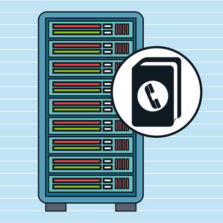 directorio telefonico: directorio de equipo del servidor de ilustraci�n vectorial eps eps10 10