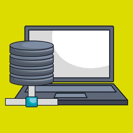 serveur ordinateur portable icône de message illustration vectorielle eps10