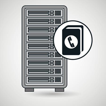 directorio telefonico: ilustraci�n vectorial directorio de equipo del servidor Vectores