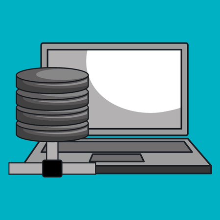 message serveur ordinateur portable icône illustration vectorielle