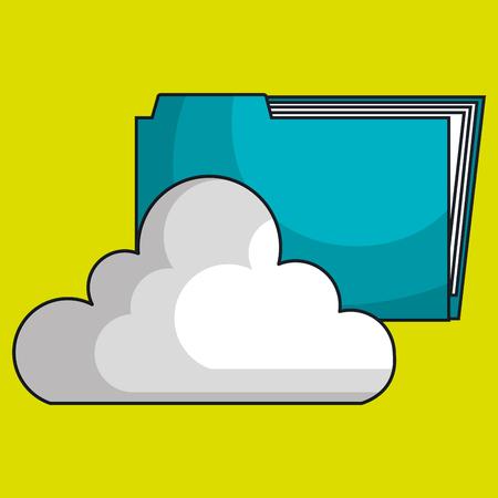 cloud data base center vector illustration Illustration