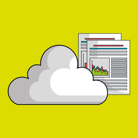 cloud data base center vector illustration Illustration