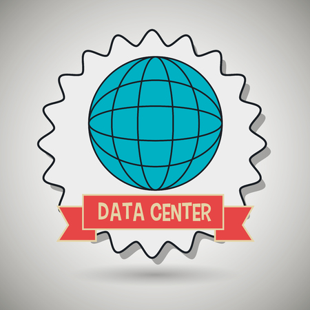 world receiver: data center global world vector illustration