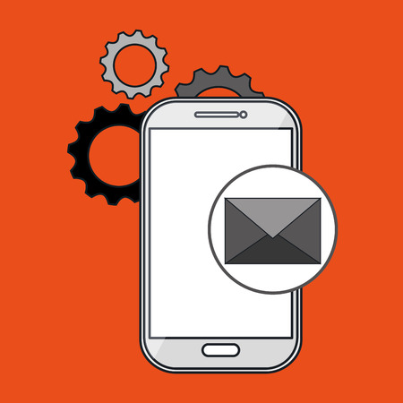 smartphone apps: smartphone gears apps vector illustration eps10 eps 10