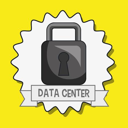 padlock icon: data center padlock icon vector illustration eps10 Illustration