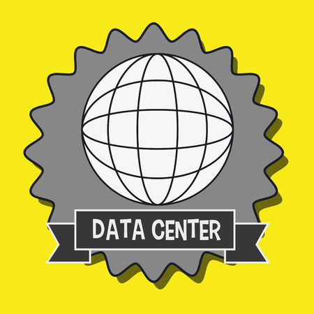 world receiver: data center global world vector illustration eps10