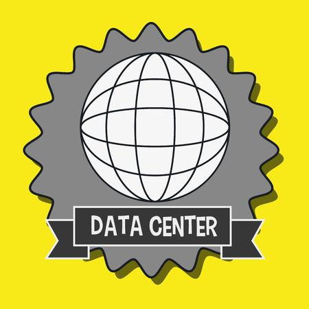 data center global world vector illustration eps10
