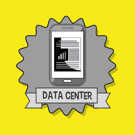 data center smartphone vector illustration eps10 eps 10